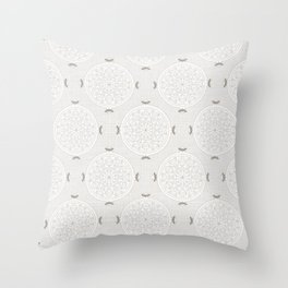 Snow Rosette Lace Throw Pillow