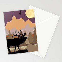 Mountain Caribou Scene Stationery Cards