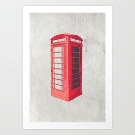 Oxford Phone Booth Art Print