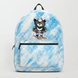 Bear on ski Backpack