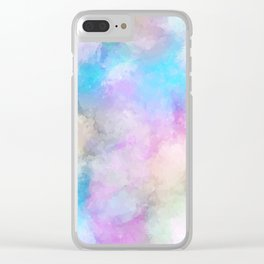 Colorful paint Clear iPhone Case