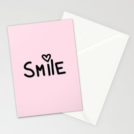 Smile Pink Stationery Cards