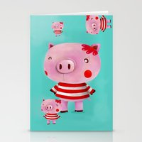 piglet Stationery Cards featuring Piglet by Gabriela Granados