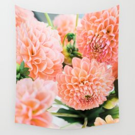 Coral Dahlias 06 Wall Tapestry