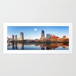 Nashville Skyline in the Morning Art Print