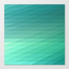 Fig. 043 Mint Green Geometric Diagonal Stripes Canvas Print