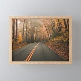 Driving in fall Framed Mini Art Print