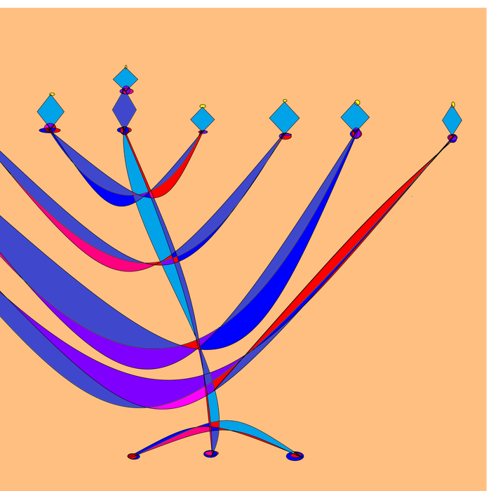 A Chanukah Greeting with Menorah Comforters