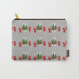 Red Angel Christmas Tree grey Carry-All Pouch