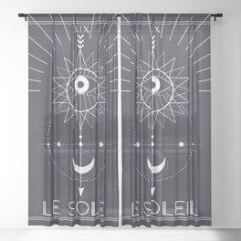 Le Soleil or The Sun Tarot Sheer Curtain