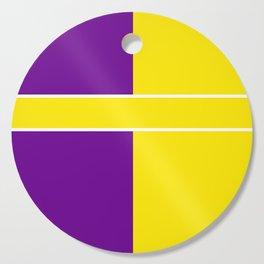 Team Colors 6....Yellow,purple Cutting Board