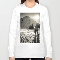 ski Long Sleeve T-shirts featuring ski by Sébastien BOUVIER