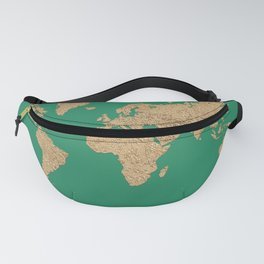 Sand balls - Organic World Map Series Fanny Pack