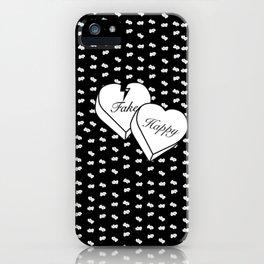 """Fake happy"" - Pmore iPhone Case"