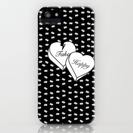 """Fake happy"" - Pmore iPhone Case"