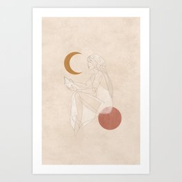 Woman with Vision Art Print