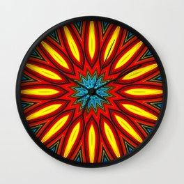 Bright Multi Color Mandala Wall Clock