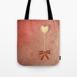beautiful heart on texture kaleidoscope Tote Bag