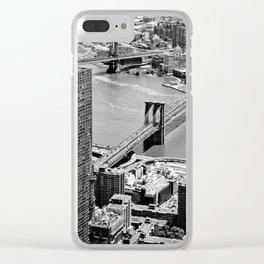 Brooklyn Bridge View - New York City Clear iPhone Case