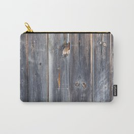 Wooden texture of shabby board with rusty nails. Carry-All Pouch