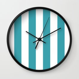 Big Lines Turquoise Wall Clock