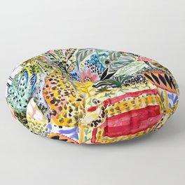 Karen Fields Tiger in the City Floor Pillow
