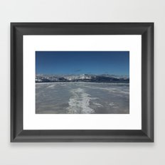 A Crack in the Ice Framed Art Print