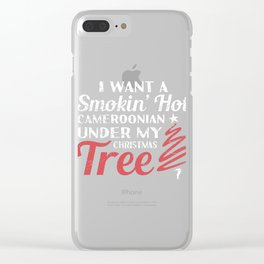 Smokin' Hot Cameroonian Under Christmas Tree Clear iPhone Case