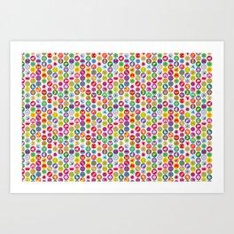 bugs 'n flowers - light Art Print