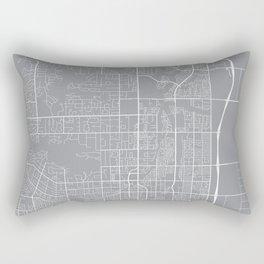 Scottsdale Map, Arizona USA - Pewter Rectangular Pillow