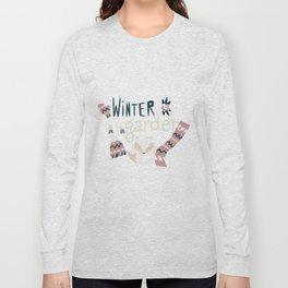 Winter garden pattern 004 Long Sleeve T-shirt