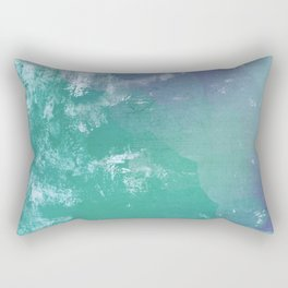 Big Wave - Japan Ocean Abstract Mint Rectangular Pillow