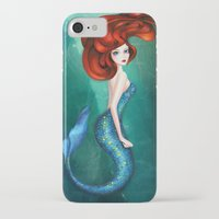 mermaid iPhone & iPod Cases featuring Mermaid by Annya Kai