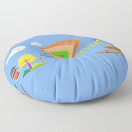 Number seven - Kids Art Floor Pillow