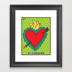 El Corazon Framed Art Print