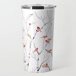 Birch Trees and Cardinal 2  Travel Mug