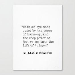 William Wordsworth Canvas Print