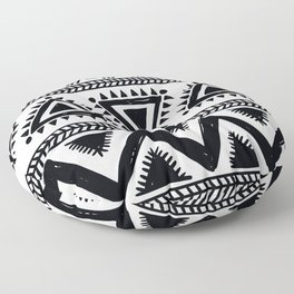 Tribal black and white Floor Pillow