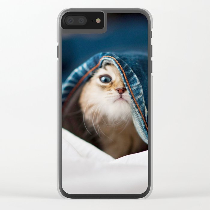 Sweet cat Clear iPhone Case