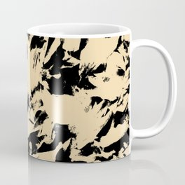 Beige Yellow Black Abstract Military Camouflage Coffee Mug
