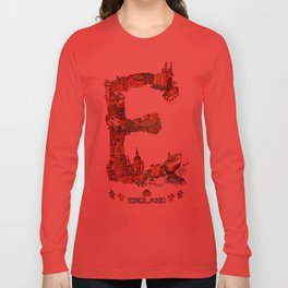 E is for England Long Sleeve T-shirt