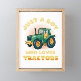 Tractor Farm Farming Cow Farming Gift Framed Mini Art Print