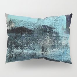 Reaction: an abstract mixed media piece in blues and purple by Alyssa Hamilton Art Pillow Sham