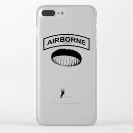 Airborne Jump Paratrooper Clear iPhone Case