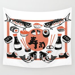 Sushi And Soy Sauce Wall Tapestry
