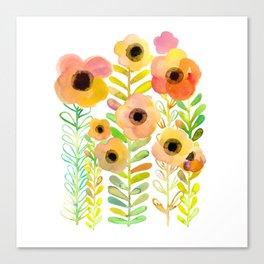 Peony field Canvas Print
