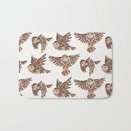 Owls in Flight – Brown Palette Bath Mat