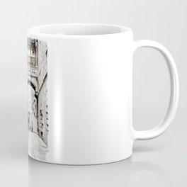Carrer del Bisbe - Barcelona Black and White Coffee Mug