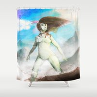 mother Shower Curtains featuring Mother by Roux