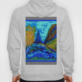 Western Golden Aspens Blue Mountain Landscape Art Hoody
